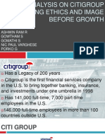 Case Analysis on Citigroup