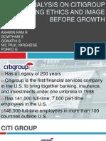 Case Analysis on Citigroup