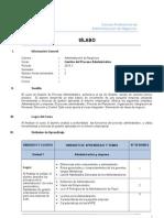 ADM Semestre I Gestion de Proceso Administrativo