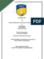 Impact of Information Technology on Work-Life Balance