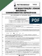 PROVA 39 - TÉCNICO DE MANUTENÇÃO JÚNIOR MECÂNICA