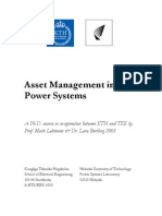 Asset Management in Power Systems - Paper Collection - 2005 - A Ph.D. Course