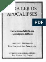 Para Ler Os Apocalipses Curso Introdutorio