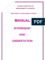 Manual-Internship and Dissertation.