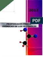 PROPIEDADES FISICO-QUIMICADE LOS ALCOHOLES