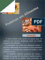 Aula 9- Proteínas em alimentos