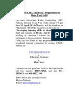IRC-Pathshala 15 April 2013