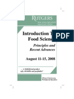 Rutgers Intro to Food Science Course 2008