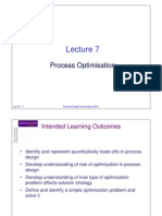 Lec07 Process Optimisation