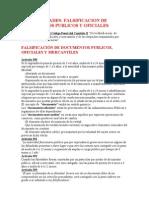 Falsificación de documentos públicos y oficiales