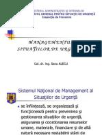 Managementul Situatiilor de Urgenta