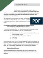 Le Contrat de Travail 2009 Bac2