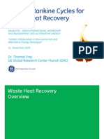 Organic Rankie Cycles Waste Heat Recovery