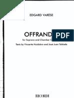 Varese Offrandes