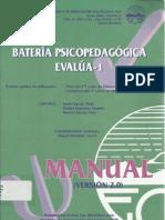 MANUAL BATERÍA PSICOPEDAGÓGICA EVALUA I