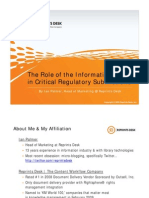 The Role of the Information Center in Critical Regulatory Submissions - A Reprints Desk Presentation