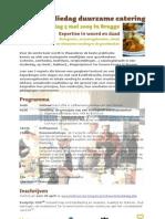 Studiedag Duurzame Catering 5 Mei Uitnodiging