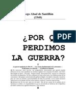 """Diego Abad de Santillán,  """"Por qué perdimos la Guerra"""""""