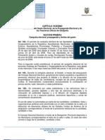 CAPÍTULO VIGÉSIMO DEL CONTROL DEL GASTO ELECTORAL DE LA PROPAGANDA ELECTORAL Y DE LOS TESOREROS ÚNICOS DE CAMPAÑA