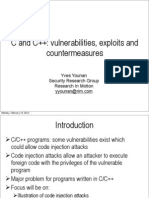C and C++ Vulnerabilities