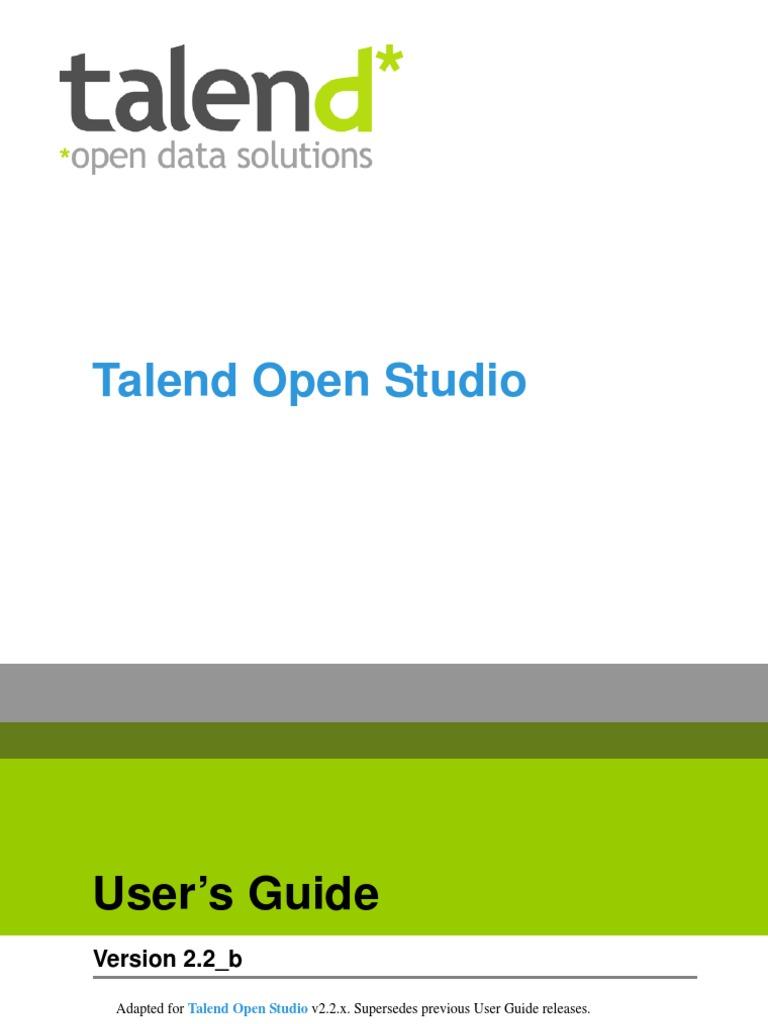TalendOpenStudio User Guide 22b En | Source Code | Database