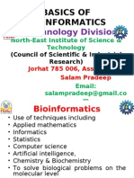 Basics of Bioinformatics