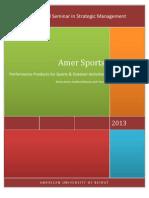 AMER SPORTS - Strategic Analysis
