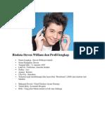 Biodata Steven William Dan Profil Lengkap