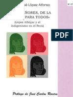 F.J. LÓPEZ ALFONSO - López Albújar y el indigenismo en el Perú