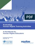 Evaluating Human Rights Training Activities, A Handbook for Human Rights Educators