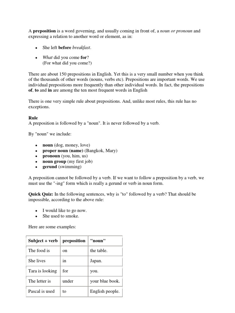 preposition preposition and postposition verb