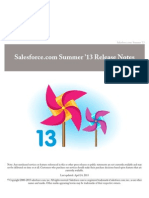 Salesforce Summer13 Release Notes