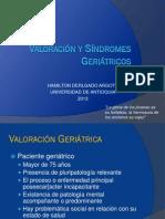 Valoración y Síndromes Geriátricos