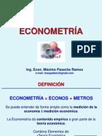 Econometría Semana 1 - Definición, Historia, Objetivos