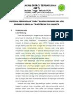 Proposal Peengadaan Tempat Sampah Organik Dan Non Organik Di Sekolah Tinggi Teknik Pln Jakarta