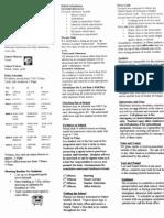 Handbook Cheat Sheet