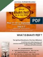 Bhakti Fest Yoga Partner Program