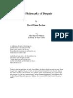 The Philosophy of Despair - David Starr Jordan