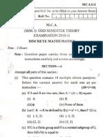 Discrete Mathemetics MCA 114