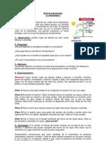 Guía de experimento fotosíntesis