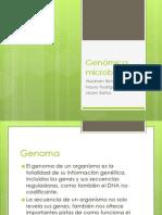 Genómica microbiana