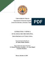 Literatura y música en el siglo de oro español