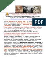 Apertura delle Catacombe SS Marcellino e Pietro 30 maggio 2 giugno 2013