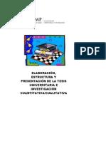 ESTRUCTURAS Y NORMAS DE PRESENTACIÓN DE TESIS