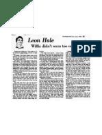 Leon Hale - Willie Nelson 1981