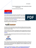 Telecom Uncovered Report 22nd April 2013
