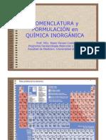 Nomenclatura y Formulacion en Quimica Inorganica