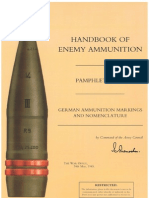 Handbook of Enemy Ammunition - Pamphlet No 15 - German Ammunition Markings and Nomenclature - 24.05.1945
