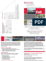 Rutgers Wetland Delineation Certificate Series 2008