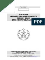 Form Pendaftaran S2 Cipta Kaji
